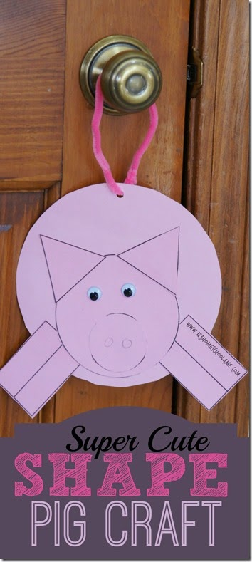 Super Cute Shape Pig Craft for Kids from Toddler to Preschool Kindergarten and more