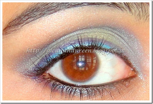 Blue Green Purple Smokey Eye