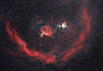 Laço de Barnard em torno de Órion