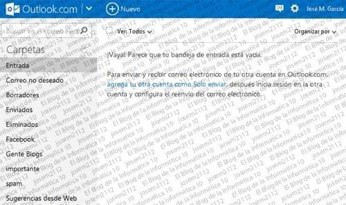 Recuperar emails eliminados en Outlook - bandeja entrada correo