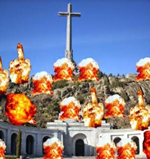 Valle de los Caídos fuegos