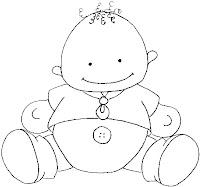 Baby05a Dibujos para calcar o colorear bebes