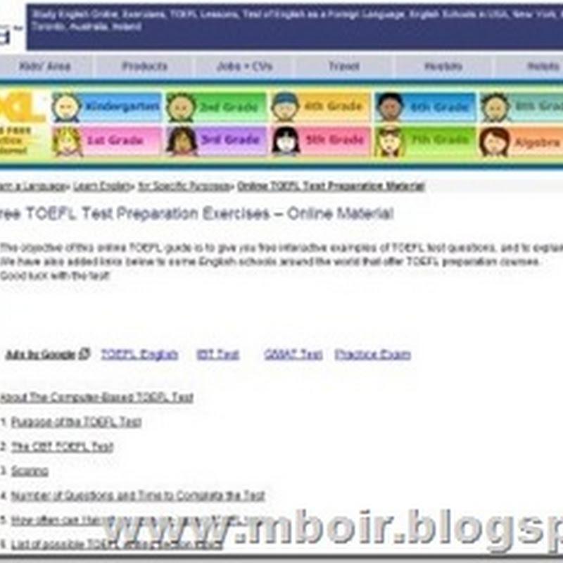 Learn4Good, Website Belajar TOEFL