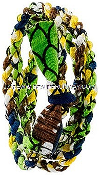 J.CREW INDEGO AFRICA CLOTH WRAP BRACELETS Pink Yellow Blue Green navy SPRING SUMMER 2012  fair trade Nicole Miller Anthropologie