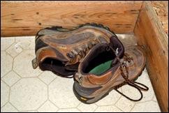 boots in corner