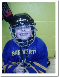 Kolby after winning first hockey game!