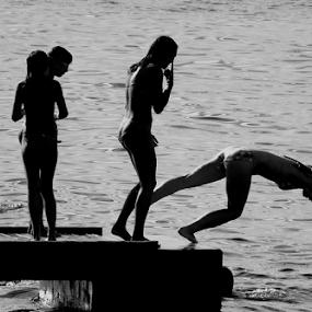 jump by Renato Dibelčar - Sports & Fitness Swimming ( holiday, izola, slovenia, summer, sea, kids, sommer, youth )