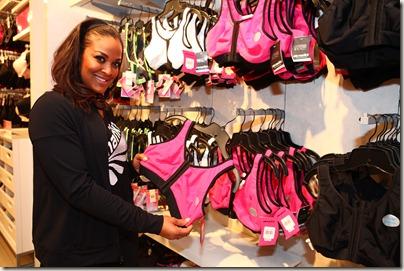 Laila Ali Shows off the New Marika Sports Bras at Lane Bryant