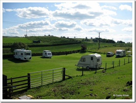 Gypsy Rover at Whittlees farm C/L, Gilsland.