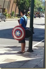 20131010_Captain America going to work (Small)