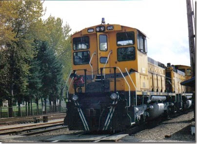 Weyerhaeuser Woods Railroad (WTCX) SW1500 #305 at Longview, Washington on May 17, 2005