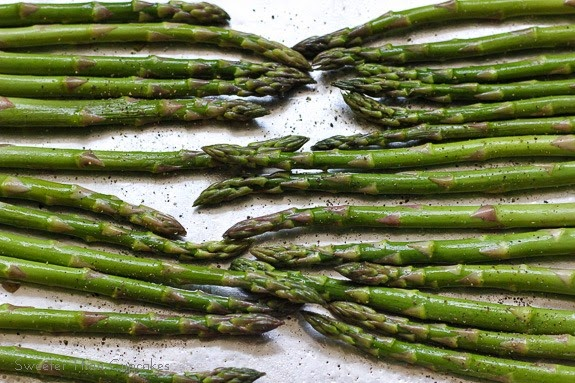 Roasted Asparagus with Goat Cheese