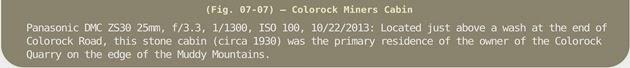 Image Title Bar 119 Fig 07-07 Colorock Miner's Cabin