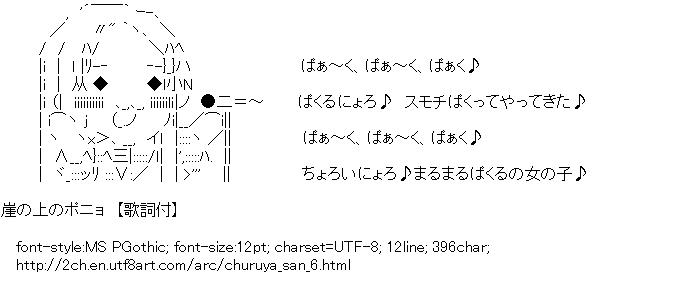 Churuya-san,Gake no Ue no Ponyo,Song