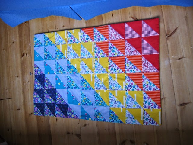Cot quilt for Tate