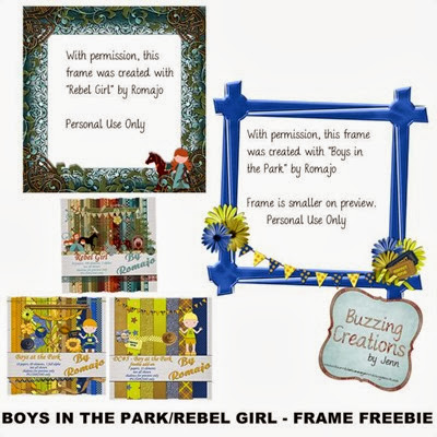 Romajo - Boys in the Park and Rebel Girl Freebies