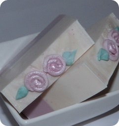Piped Rose soap