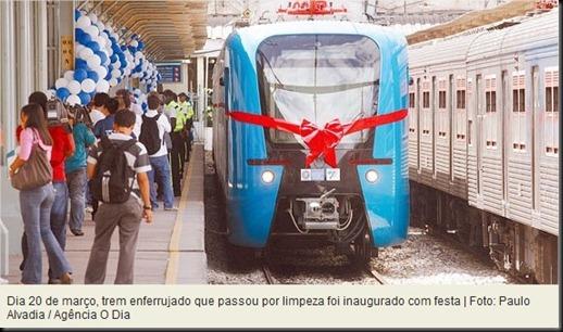 Trens comprados por R$ 11 milhões cada já chegaram ao Rio enferrujados - Rio - O Dia Online - Google Chrome