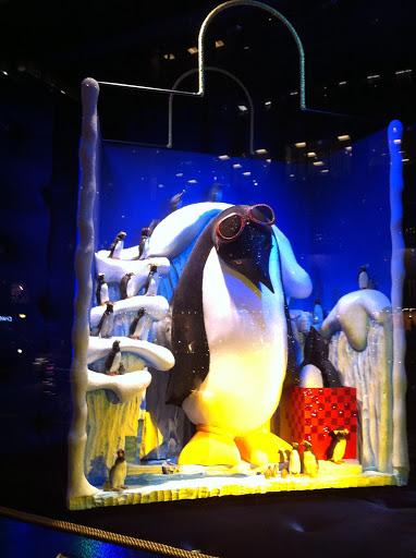 And here are more penguins inside.