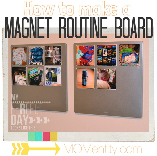 How to make a magnetic routine board from MOMentity.com