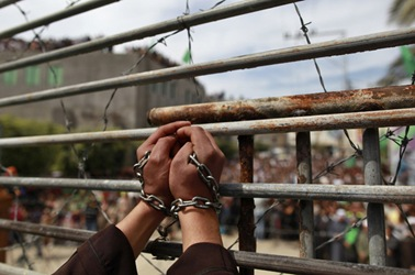 Palestinian prisoners in mass hunger strike