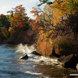 Waves and Fall Color / Madeline Island / Big Bay State Park / Wisconsin