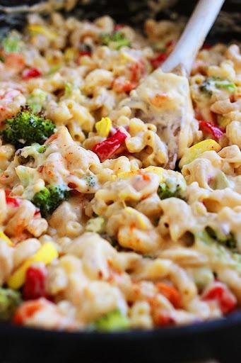 Vegetable cheese pasta recipe