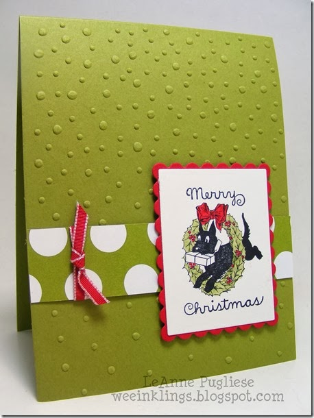 LeAnne Pugliese WeeInklings Scottie Dog Christmas Card