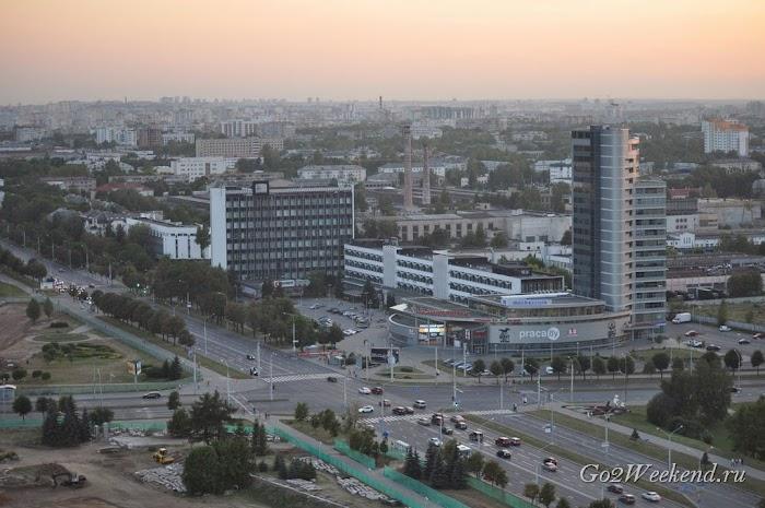 смотровая площадка национальной библиотеки Минск