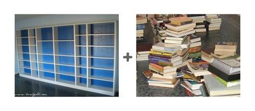 shelf plus books