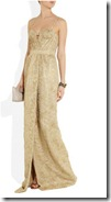 Burberry Prorsum Metallic Lace Gown