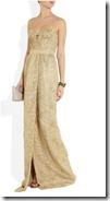 Burberry Prorsum Metallic Lace Gown