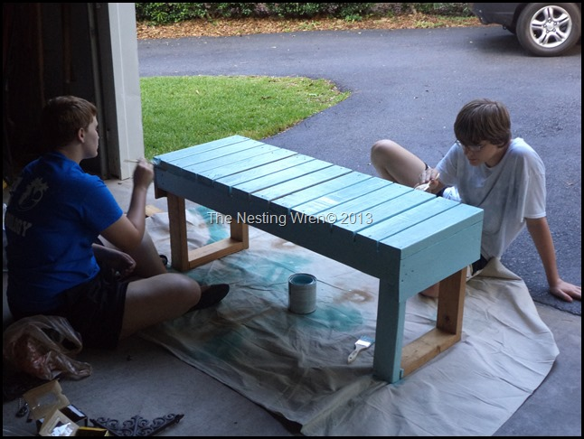 scrap wood garden bench