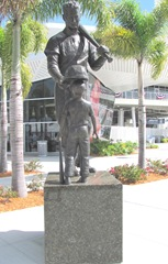 Florida 2013 Ted Williams stature at JetBluePark