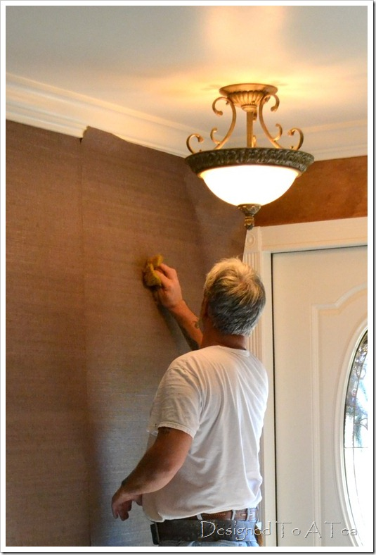 Our New Grasscloth and Tips on Hanging Grasscloth