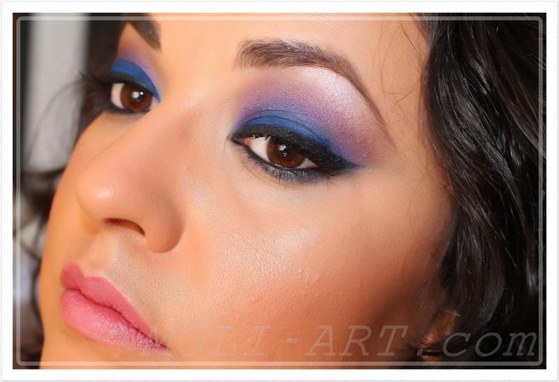 maquillaje-ojos-tonos-azules-morados-ahumado