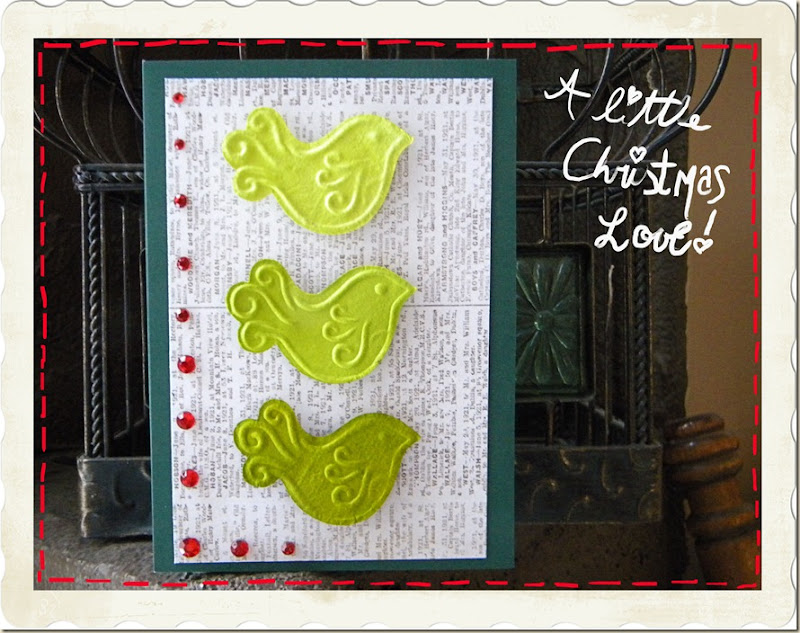 Christmas bird card