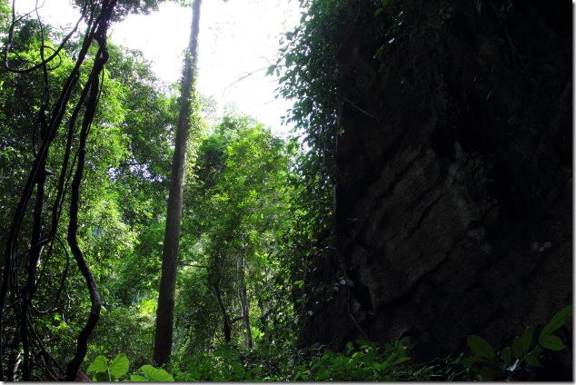Tropical entrance to the tiger cave at Ko Lanta