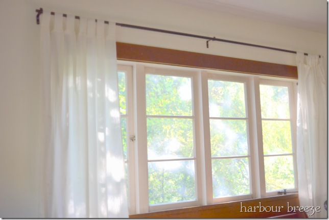 softened summer curtains