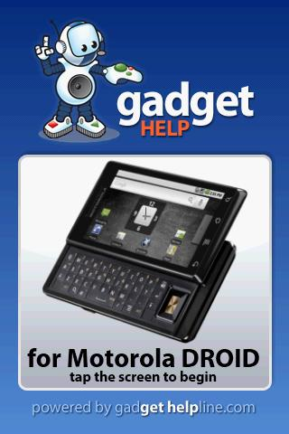Motorola DROID - Gadget Help