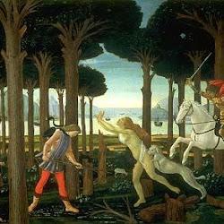 62 - Botticelli - Tabla de la historia de Nastaggio degli Honesti 2