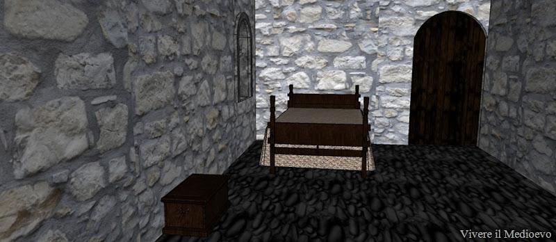 angolo letto sagrestia con porta per ingresso in chiesa