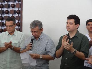 Dep. Henrique , Minst. Garibaldi e Dep. Walter Alves