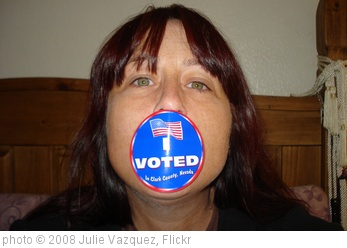 'I Voted!' photo (c) 2008, Julie Vazquez - license: http://creativecommons.org/licenses/by/2.0/