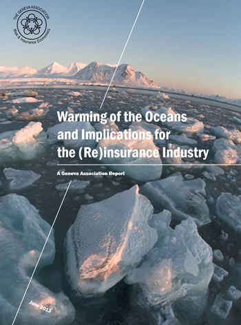 Cover of 'Warming of the Oceans and Implications for the (Re)insurance Industry: A Geneva Association Report'. Photo: Shutterstock Incredible Arctic / The Geneva Association