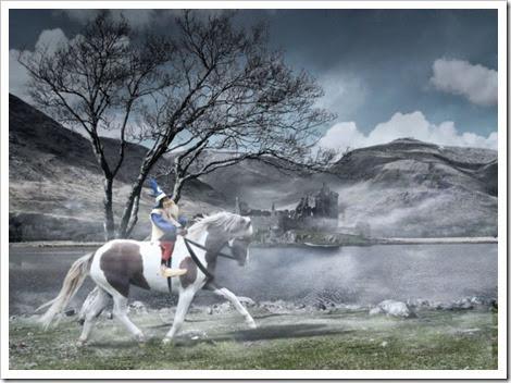 Ismaíl e o seu cabalo Buligán
