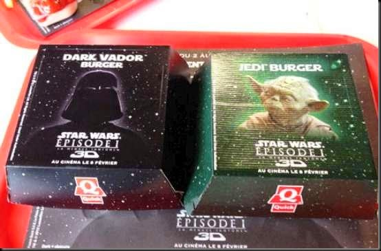 Quick darth vader and jedi burger boxes