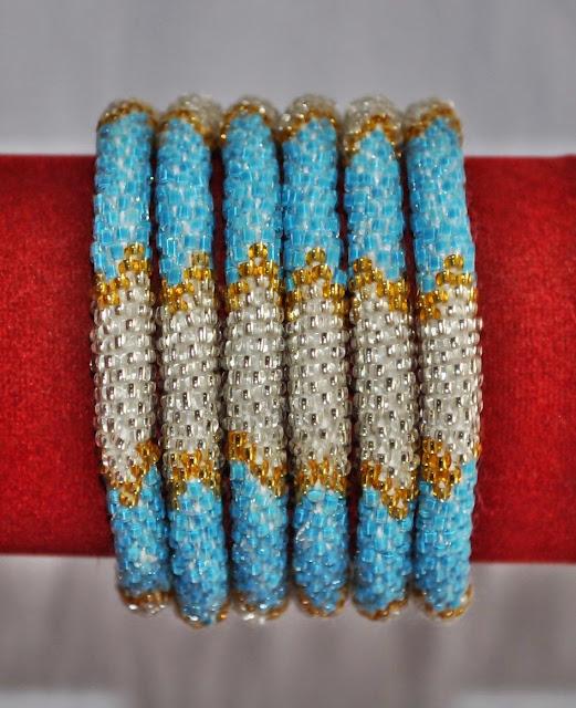 Glass Bead BraceletsGlass Bead Bracelets