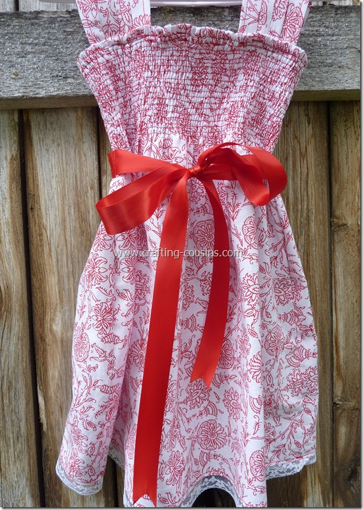 Shirred infant flower girl dress from the Crafty Cousins (41)