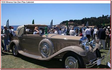1930 Minerva Van Plas Cabriolet